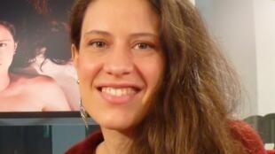 Christine Audat en los estudios de RFI