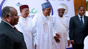 The 7 Lake Chad head of States during 2 days meeting in Abuja Capital of Nigeria.