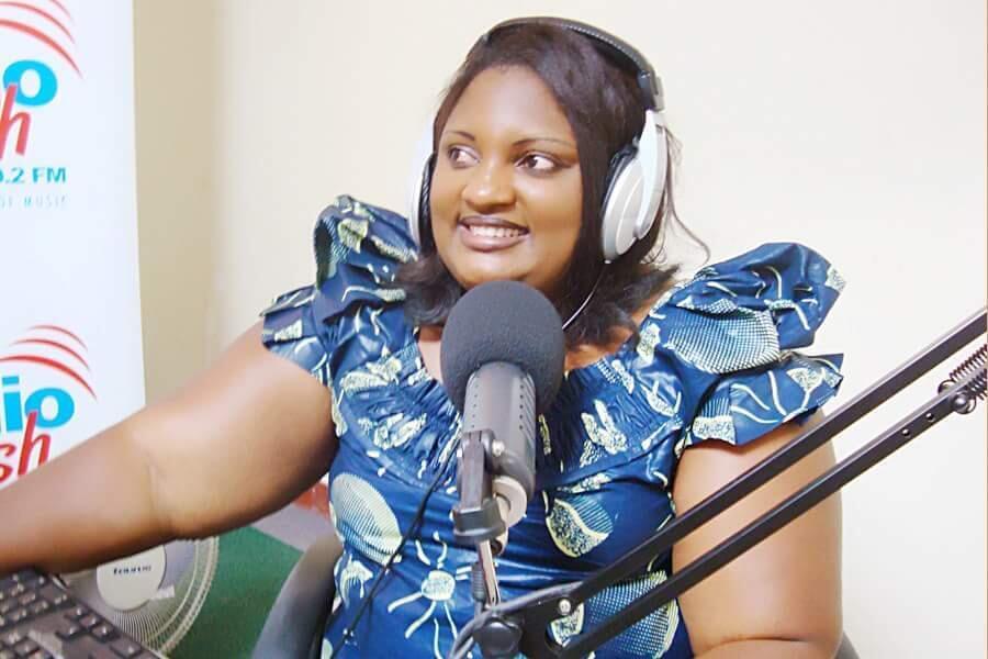 Vestine Dusabe talking to Zirara Zubakwa listeners on Flash FM in Kigali