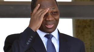 Djibrill Bassolé lorsqu'il était ministre des Affaires étrangères du Burkina Faso, le 4 octobre 2013, à Ouagadougou.