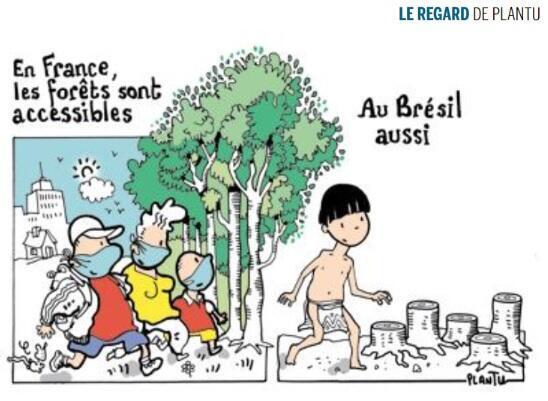 Charge na capa do jornal Le Monde desta terça-feira, 19 de maio, assinada pelo desenhista francês Plantu.