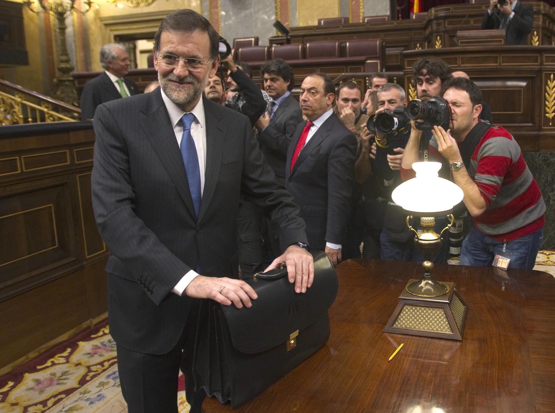Мариано Рахой лидер Народной партии после назначения премьер-министром 20/12/2011