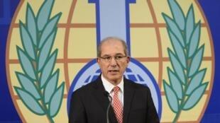 Le directeur général de l'Organisation pour l'interdiction des armes chimiques (OIAC), Ahmet Uzumcu.