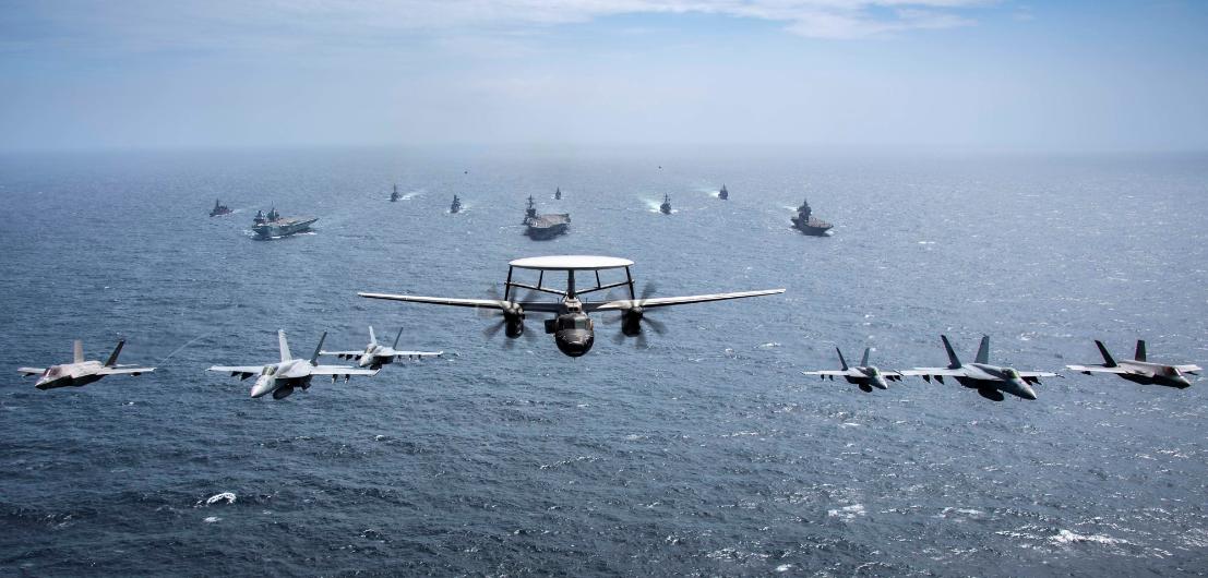 美日英澳在孟加拉灣舉行海上軍演資料圖片