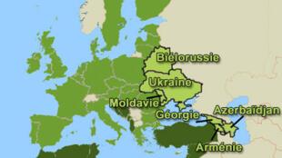 Карта стран «Восточного партнерства» ЕС