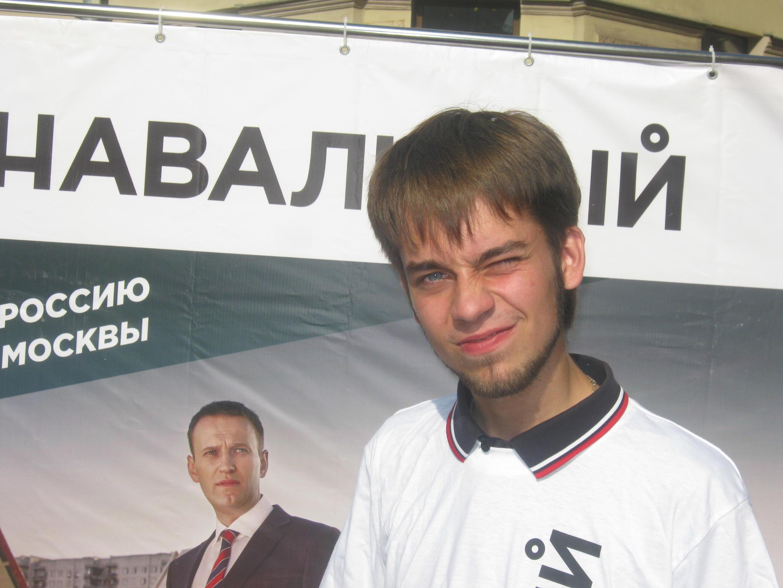 Председатель молодёжного отделения РПР-ПАРНАС в Петербурге Михаил Конев