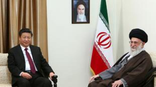 伊朗最高精神領袖哈梅內伊會見習近平