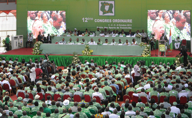 Congrès du PDCI à Abidjan, Côte d'Ivoire, le 3 octobre 2013.