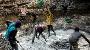 Artisanal miners hunt in DR Congo's Ituri Province for gold, just one of a host of mineral riches in a country which nevertheless remains one of the world's poorest