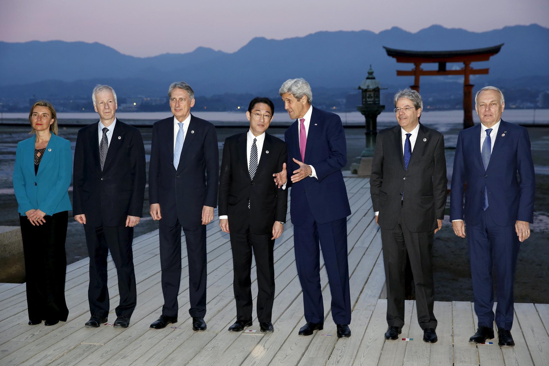 Ngoại trưởng nhóm G7-Hiroshima. Ảnh ngày 10/04/2016.