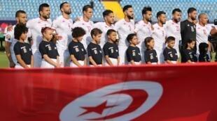 L'équipe de Tunisie avant son match de la CAN face au Mali, le 28 juin 2019.