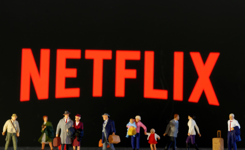 Logo của mạng phát hành phim và video trực tuyến Netflix.