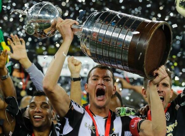 Wachezaji wa Timu ya Atletico Mineiro wakishangilia Ubingwa wa Kombe la Copa Libertadores