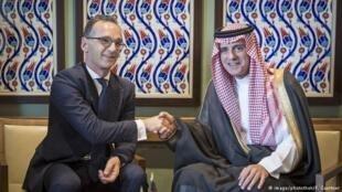 دیدار هایکو ماس و عادل الجبیر وزرای خارجه آلمان و عربستان