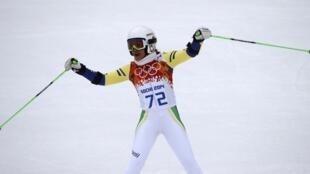 A brasileira Maya Harrisson participou da prova de Slalom Gigante dos Jogos Olímpicos de Inverno Sochi 2014.