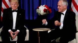 Tổng thống Mỹ Donald Trump (T) và Thủ tướng Úc Malcolm Turnbull tại New York (Hoa Kỳ) ngày 04/05/2017
