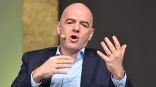Le président de la Fédération internationale de football (FIFA), le Suisse Gianni Infantino, le 3 février 2020 à Budapest.