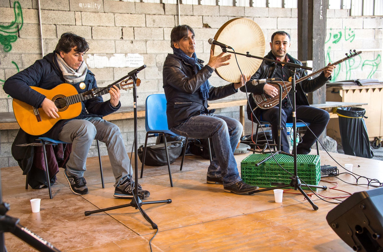 مراسم نوروز در اردوگاه پناهجویان در گراند سنت