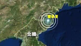 图为朝鲜核试验场丰溪里地图