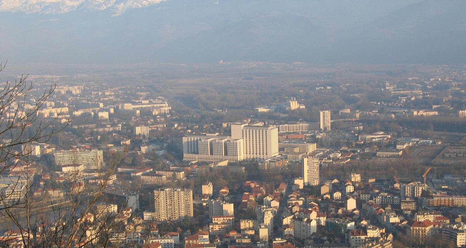 Contaminación atmosférica en Grenoble.