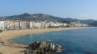 The seafront of Lloret de Mar