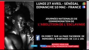 Capture d'écran du site de Mémoires et Partages