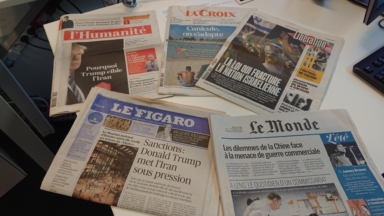 Diários franceses 06.08.2018
