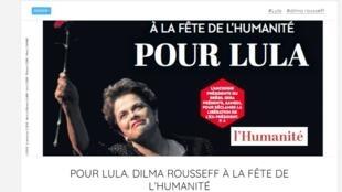Capa do jornal L'Humanité desta quarta-feira, 11 de setembro de 2019.