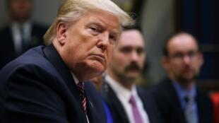 O presidente americano, Donald Trump, na Casa Branca, em 6 de dezembro de 2019