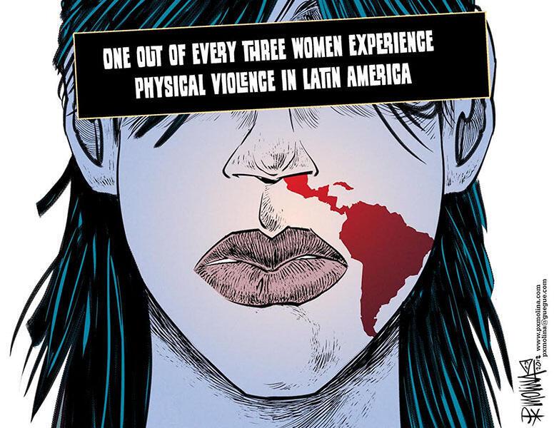 Una de cada tres mujeres es víctima de violencia física en América Latina.