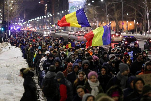 Cuộc tuần hành ngày 18/01/2017 tại Bucarest.