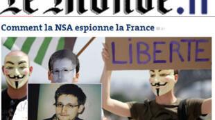 Captura de imagem do site Le Monde.fr.