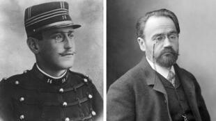左:德雷福斯;右:作家左拉
