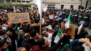 A protest against Bouteflika in Algiers