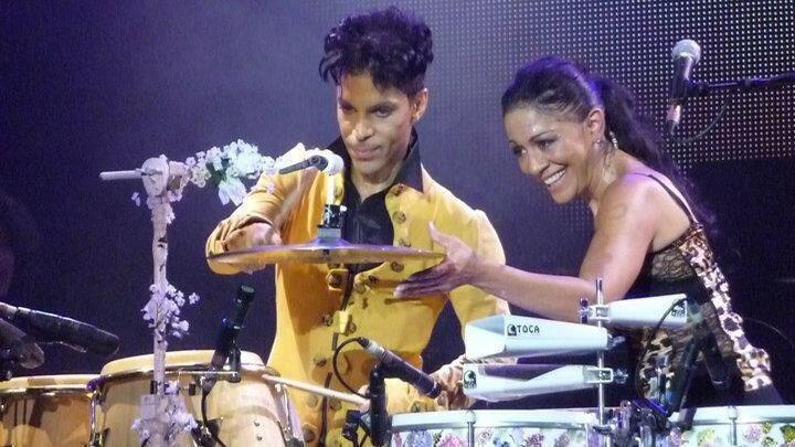 Prince et Sheila E en concert.