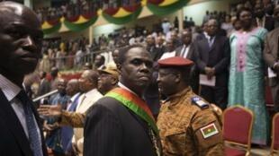 Le président de la transition burkinabè Michel Kafando après sa prestation de serment, le 21 novembre 2014.