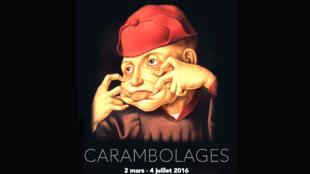 Affiche de l'exposition «Carambolages», qui se tient jusqu'au 4juillet2016, auGrandPalais, Galeriesnationales, àParis(France).