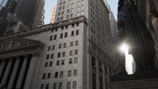 El New York Stock Exchange (NYSE) en Wall Street (New York), el 23 de marzo de 2021