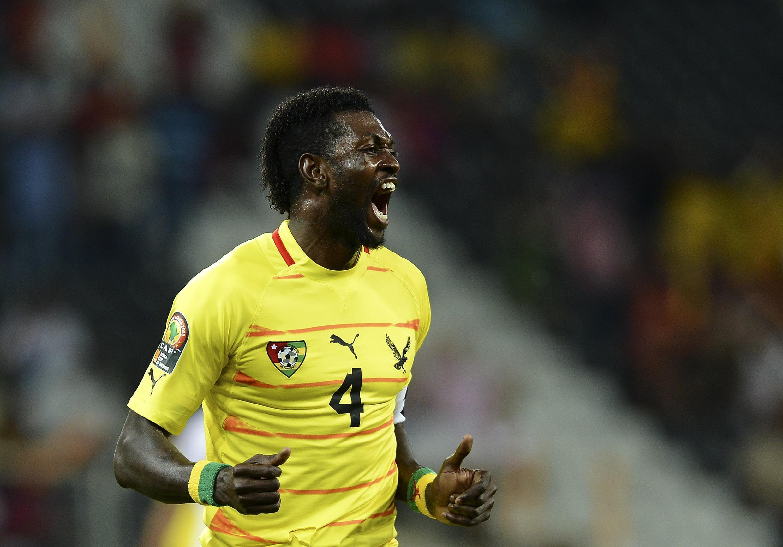 Emmanuel Adebayor, sous le maillot du Togo, le 10 janvier 2013.