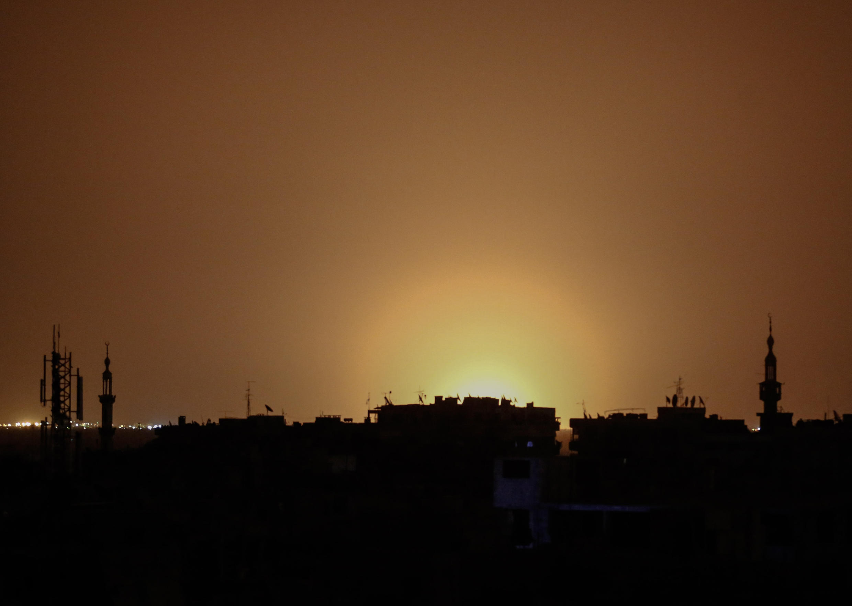 انفجار در فرودگاه بین المللی دمشق