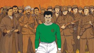 Détail de la couverture de la bande dessinée « Un maillot pour l'Algérie », parue aux éditions Dupuis.