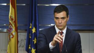 Le chef du PSOE, Pedro Sanchez, lors d'une conférence de presse donnée au Parlement espagnol, à Madrid, le 2 février 2016.