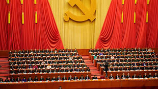 Presidente Xi Jimping no congresso do partido comunista de 18 a 25 de outubro de 2017.