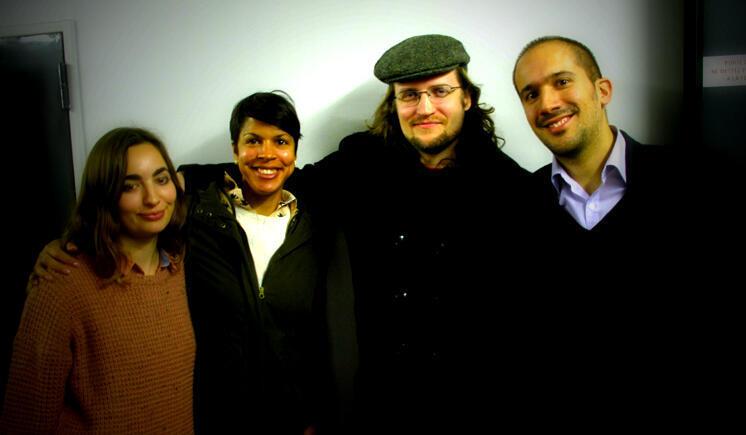 De gauche à droite : Clémence Pène, Catherine Bracy, Ethan Roeder, Romain Liberge