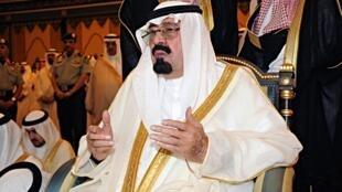 O rei saudita, Abdullah bin Abdul Aziz