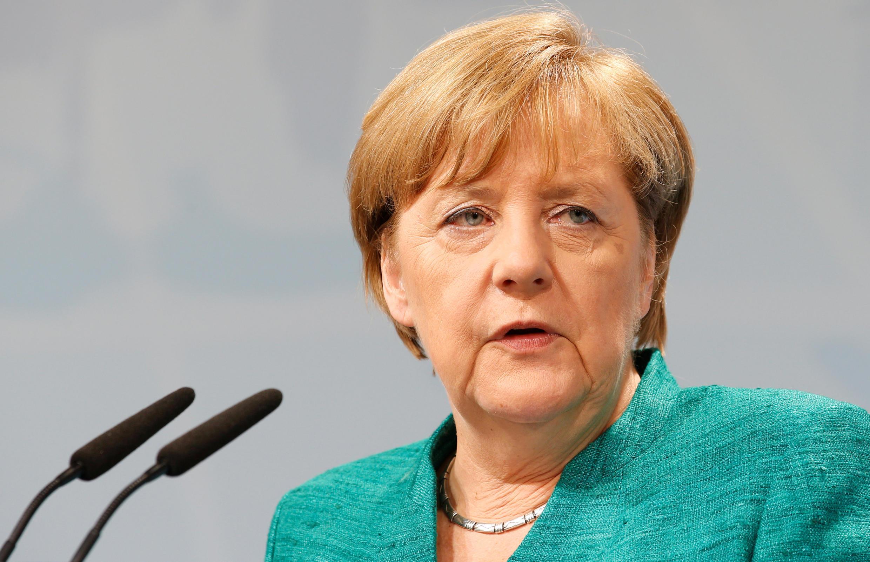 Angela Merkel al término de la Cumbre del G20.