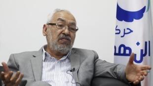 Rached Ghannouchi, líder do partido islâmico Ennahda.