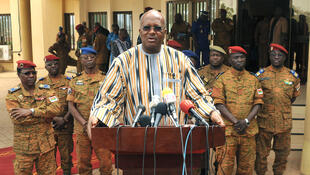 Le président Roch Marc Christian Kaboré (ici lors d'un discours le 4 février 2016) a estimé que cette célébration nationale symbolisait le renouveau démocratique du pays.