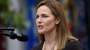 Judge Amy Coney Barrett at the White House for her nomination by President Donald Trump to the Supreme Court on September 26, 2020