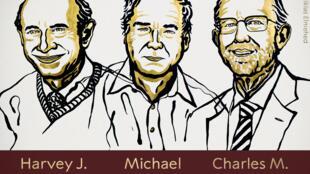 美國病毒學家阿特爾(Harvey J. Alter)、萊斯(Charles M.Rice)、及英國生化學家賀頓{Michael Houghton)三位學者以發現C型(丙型)肝炎病毒方面的成就,共同獲得2020年諾貝爾醫學獎。